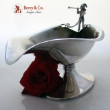.Figural Large Sauce Boat Sterling Silver Whiting 1875