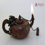 .Mixed Metals Dragon Batfish Juggler Cigar Lamp Gorham 1883