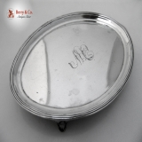 .Teapot Stand Henry Chawner 1795 Sterling Silver Monogram TW