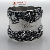 .Pond Lily Gorham Sterling Silver Napkin Ring 1890