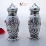 .Shakers Belleflower Happy Devil Masks Gorham 1892 Sterling Silver No Monogram