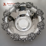 .Applied Floral Open Work Serving Bowl Woodside Sterling Silver 1910