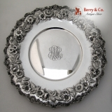 .Repousse Sandwich Plate Scalloped Edge S Kirk Inc 1925 Sterling Silver