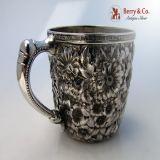 .Repousse Baby Cup Wood And Hughes Sterling Silver 1880