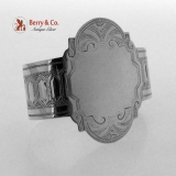 .Lucy Napkin Ring Coin Silver Engraved 1865