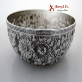 .Repousse Bowl Wood And Hughes Sterling Silver 1880