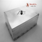 .Jensen Dresser Box 529 Art Deco 1930 Sterling Silver