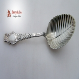 .Durgin Watteau Tea Caddy Spoon Sterling Silver 1891