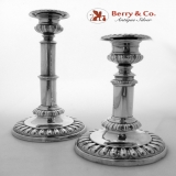 . Telescoping Candlesticks Old Sheffield Silver Plate Regency 1820