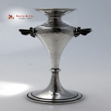 .Butterfly Bud Vase Coin Silver 1870 Wendt