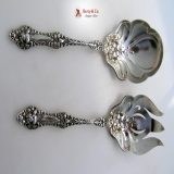 .Old Orange Blossom 2 Pcs Salad Serving Set Alvin Sterling Silver