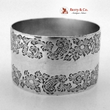 .Scroll Foliate Napkin Ring Sterling Silver London 1901 No Monograms