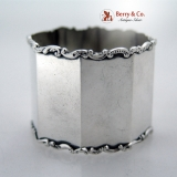 . Scroll Octagonal Napkin Ring Gorham Sterling Silver 1900 No Monograms