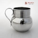 .Pottery Form Mug Thomas Whipham Charles Wright 1762 Sterling Silver No Monograms