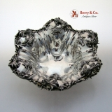 .William Kerr Thistle Pattern Serving Bowl Sterling Silver 1900