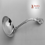 .Medallion Gravy Ladle Schulz And Fischer 1870 Sterling Silver
