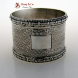.Engine Turned Sterling Silver Napkin Ring Birmingham 1943