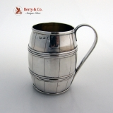 .Small Mug Barrel Form Sheffield 1794