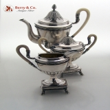 .Coffee Set French Style Sterling Silver 1820 Austrian Import 1910