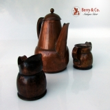 .Hector Aguilar Copper 3 Pcs. Tea Set 1950