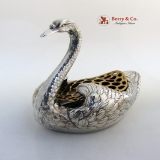 .Sterling Silver Swan Flower Frog Durgin Gorham Sterling Silver