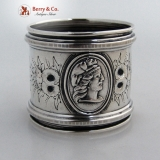 .Medallion Coin Silver Napkin Ring 1860
