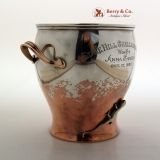 .Mixed Metals Trophy Cup Gorham Applied Lizard Beetle 1883