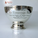 .The Dungannon Bowl  Pimlico Loser Weeper Vanderbilt 1950 Sterling Silver