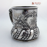 .Large Fancy Baby Cup Sterling Silver Gorham 1899