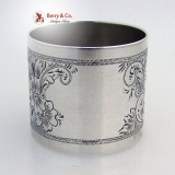 .Bright Cut Napkin Ring Sterling Silver 1890 No Monograms