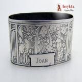 .Nursery Rhyme Napkin Ring Bo Peep Humpty Dumpty Gorham Sterling Silver 1920 Joan