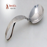 .Cactus Sauce Spoon Curved Handle Georg Jensen Sterling Silver