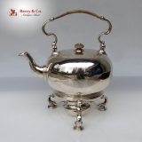 .George II Silver Hot Water Kettle and Stand London 1749