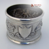 .Indian Coin Silver Napkin Ring Architectural Landscape