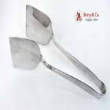 . Swedish Modern Sandwich Tongs Allan Adler 1960 Sterling Silver