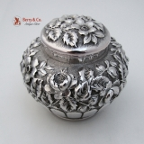 .Repousse Dresser Jar Reed And Barton Sterling Silver 1900