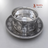 .Nursery Rhyme Sterling Silver Baby Bowl and Underplate International 1928
