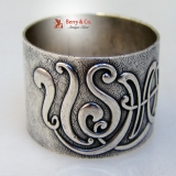 . USMA Napkin Ring Earl Shuman Gruver Class of 1923 Sterling Silver