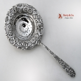 .Repousse Tea Strainer Sterling Silver Jenkins And Jenkins 1910