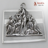 .Mythological Large Ornate Figural Paper Clip Sterling Silver 1892