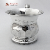 .American Coin Silver Baby Cup Bailey And Kitchen 1845 W W Montgomery Philadelphia