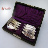 .Gothic Egg Spoons 4 William Gale 1847 Coin Silver