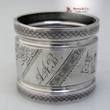 .25th Aniversary Napkin Ring Aesthetic Bird 1870 Coin Silver