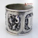 .Chinese Export Silver Napkin Ring Figural 1880