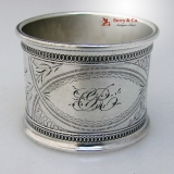 .Scroll Engraved Napkin Ring Gorham Sterling Silver 1890