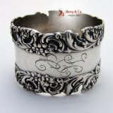 .Floral and Scroll Sterling Silver Napkin Ring Wallace 1900