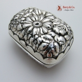 .Floral Repousse Soap Box Sterling Silver Wallace 1900