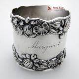 .Pond Lily Napkin Ring Gorham B209 Sterling Silver 1890