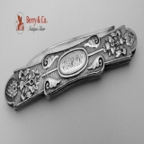 .Folding Pocket of Fruit Knife All Sterling Silver 1870