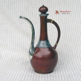 .Mixed Metals Turkish Coffee Pot Sterling Silver Copper Gorham 1883